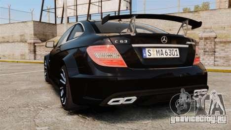 Mercedes-Benz C63 AMG BSAP (C204) 2012 для GTA 4 вид сзади слева