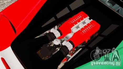 Ferrari 458 Italia 2010 Italian для GTA 4 вид изнутри