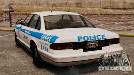 Полиция Монреаля v1 для GTA 4 вид сзади слева