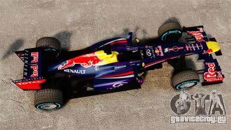 Болид Red Bull RB9 v1 для GTA 4 вид справа