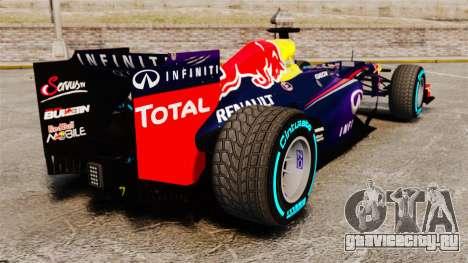 Болид Red Bull RB9 v1 для GTA 4 вид сзади слева