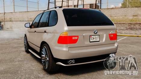 BMW X5 4.8iS v2 для GTA 4 вид сзади слева