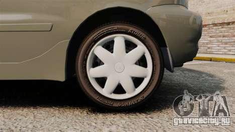 Daewoo Lanos FL 2001 для GTA 4 вид сзади