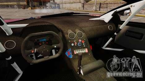 Lamborghini Murcielago RGT для GTA 4 вид изнутри