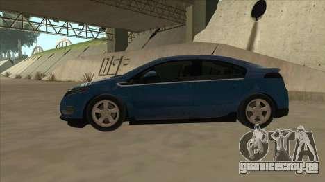 Chevrolet Volt 2011 [ImVehFt] v1.0 для GTA San Andreas вид сзади слева