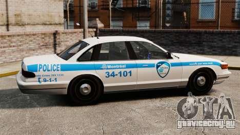 Полиция Монреаля v1 для GTA 4 вид слева