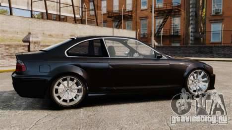 BMW M3 Coupe E46 для GTA 4 вид слева