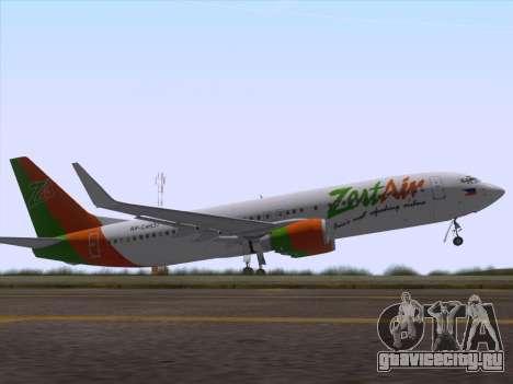 Boeing 737-800 Zest Air для GTA San Andreas салон