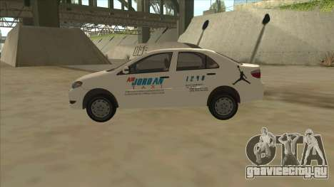 Toyota Vios AIR JORDAN TAXI of Cagayan De Oro для GTA San Andreas вид слева
