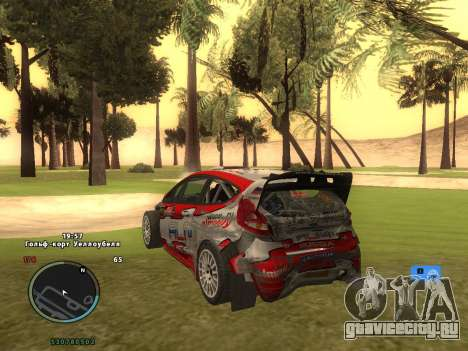 Ford Fiesta RS WRC для GTA San Andreas вид сверху
