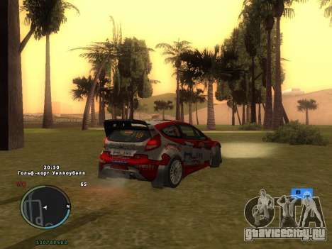 Ford Fiesta RS WRC для GTA San Andreas салон