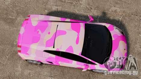 Lamborghini Gallardo 2005 [EPM] Pink Camo для GTA 4 вид справа