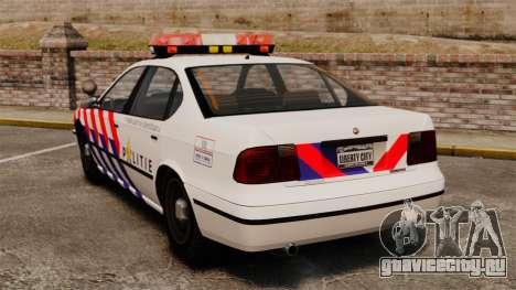 Полиция Голландии для GTA 4 вид сзади слева
