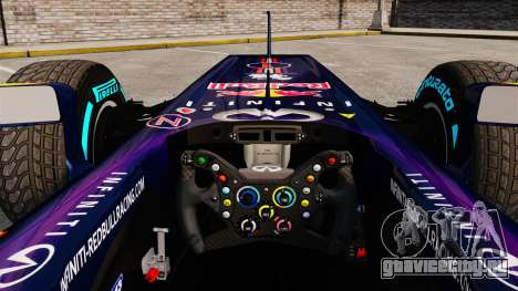 Болид Red Bull RB9 v1 для GTA 4 вид сзади
