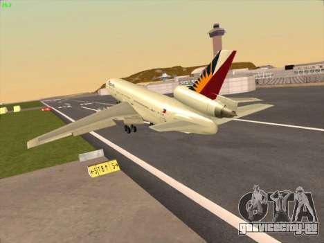 McDonell Douglas DC-10 Philippines Airlines для GTA San Andreas вид сзади слева