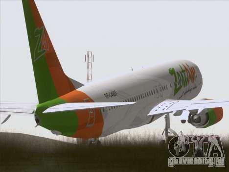 Boeing 737-800 Zest Air для GTA San Andreas вид справа
