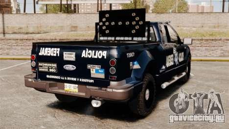 Ford F-150 De La Policia Federal [ELS & EPM] v3 для GTA 4 вид сзади слева