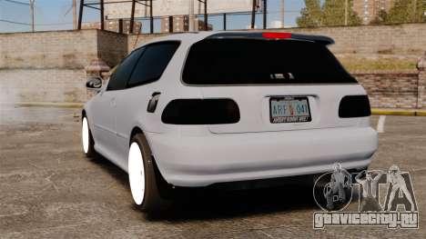 Honda Civic Gtaciyiz для GTA 4 вид сзади слева