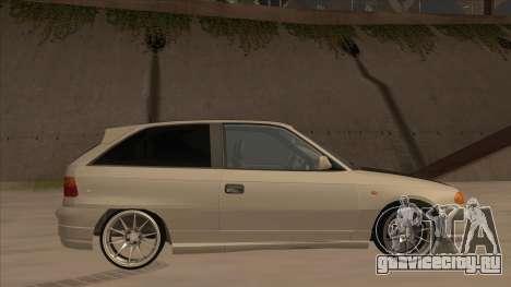 Opel Astra F DRP для GTA San Andreas вид сзади слева