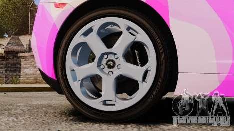 Lamborghini Gallardo 2005 [EPM] Pink Camo для GTA 4 вид сзади