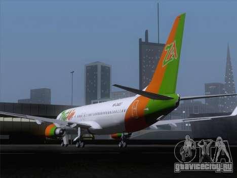 Boeing 737-800 Zest Air для GTA San Andreas вид сзади слева