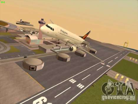 Airbus A320-211 Philippines Airlines для GTA San Andreas