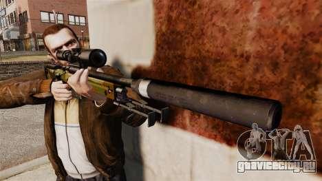 Снайперская винтовка AW L115A1 с глушителем v8 для GTA 4 третий скриншот