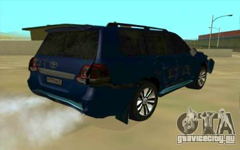 Toyota Land Cruiser 200 для GTA San Andreas салон