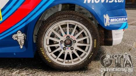 Ford Focus RS Martini WRC для GTA 4 вид сзади