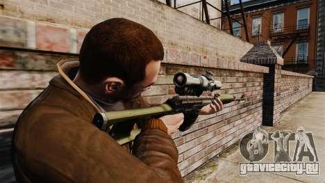 Снайперская винтовка Драгунова v3 для GTA 4 второй скриншот