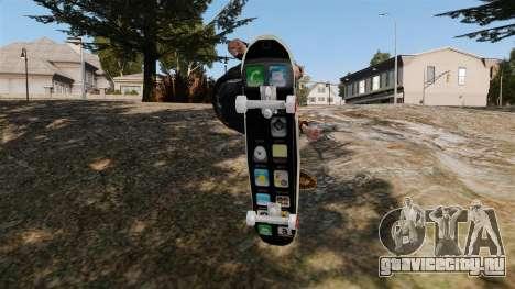 Скейтборд iPhone для GTA 4 вид справа