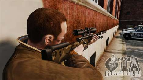 Снайперская винтовка AW L115A1 с глушителем v10 для GTA 4 второй скриншот