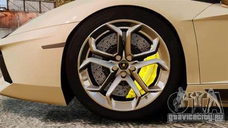 Lamborghini Aventador LP700-4 2012 v2.0 для GTA 4 вид сзади