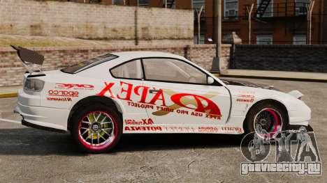 Nissan S330SX GT для GTA 4 вид слева
