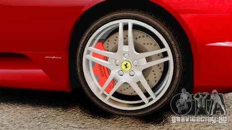 Ferrari F430 2005 для GTA 4 вид справа