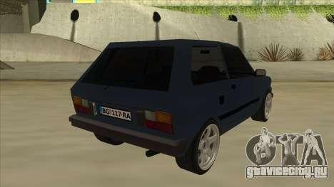 Zastava Yugo 1.1 для GTA San Andreas вид справа