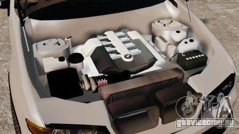 BMW X5 4.8iS v2 для GTA 4 вид сзади