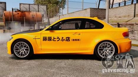 BMW 1M Coupe 2011 Fujiwara Tofu Shop Sticker для GTA 4 вид слева