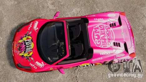 Ferrari 458 Spider Pink Pistol 027 Gumball 3000 для GTA 4 вид справа