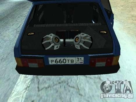ВАЗ 2108 Синяя дюжина для GTA San Andreas вид справа