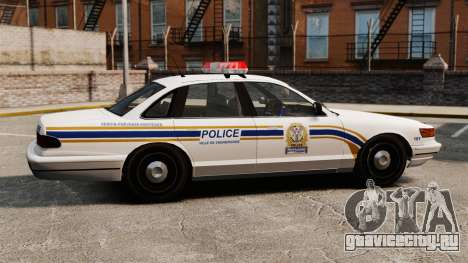 Полиция Шербрука для GTA 4 вид слева