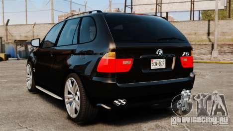 BMW X5 4.8iS v1 для GTA 4 вид сзади слева