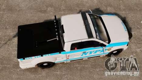 Ford F-150 v3.3 NYPD [ELS & EPM] v1 для GTA 4 вид справа