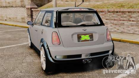 Mini Cooper S 2008 v2.0 для GTA 4 вид сзади слева