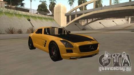 Mercedes SLS AMG Hamann 2010 V1.0 для GTA San Andreas вид слева
