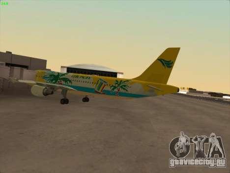 Airbus A320-211 Cebu Pacific Airlines для GTA San Andreas вид сзади слева