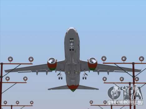 Boeing 737-800 Zest Air для GTA San Andreas колёса