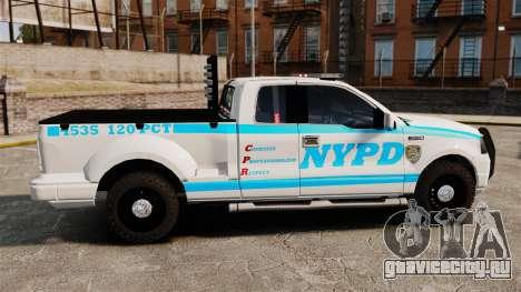 Ford F-150 v3.3 NYPD [ELS & EPM] v2 для GTA 4 вид слева