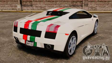 Lamborghini Gallardo 2005 [EPM] Italian для GTA 4 вид сзади слева