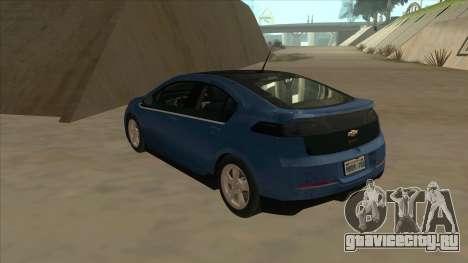 Chevrolet Volt 2011 [ImVehFt] v1.0 для GTA San Andreas вид сзади